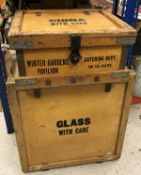 A Venesta Limited Vinery House Queen Street Place London Fitted Cases vintage china packing crate
