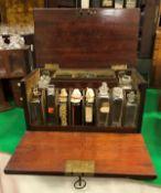 A 19th Century mahogany apothecary's chest,