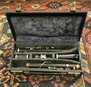 A Hawkes & Co Excelsior Sonorous Class clarinet numbered 1571 cased