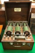 """A Victorian mahogany cased """"Lloyd's Patent Combination Wave Apparatus"""" manufactured by the Electro"""