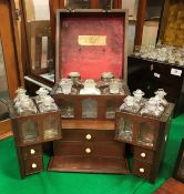 A 19th Century mahogany and rosewood strung apothecary's chest,