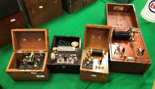 A Cox Cavendish Electrical Co Limited electric therapy unit in mahogany case,