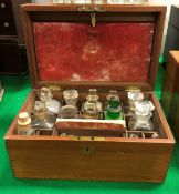 A Victorian mahogany apothecary's box of rectangular form,