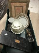 A collection of items to include 19th Century gilt decorated tea wares,