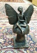"""ROLAND MOLL """"Pixie"""" a bronzed cold cast sculpture limited edition 609/750 with certificate signed"""