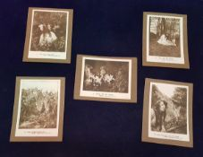 """Cottingley Fairies interest: A collection of five """"postcard prints"""" mounted on card of """"A."""