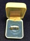 An 18 carat gold five stone set diamond ring approx. 2.