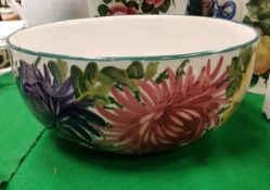 "A Wemyss Pottery ""Chrysanthemum"" decorated bowl by Karel Nekola,"