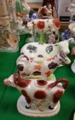 A collection of five items of pottery including Alexander Ceramics limited edition Staffordshire
