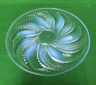 "RENE LALIQUE (1860-1945) - an opalescent and clear glass ""Fleurons"" plate,"