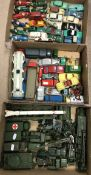 A quantity of playworn Dinky Toys to include Alpha Romeo, MG Midget, Centurion tank,