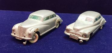 """A Prameta Kolner Automodelle Mercedes Benz 300 stamped """"Made in Germany Britzone"""" together with a"""