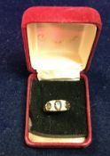 A Victorian 18 carat gold diamond and topaz set dress ring, approx 3.