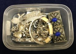 A collection of silver and other jewellery to include bangles, etc, total weighable silver approx 7.
