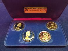 A collection of UK proof coins, various commemorative coins,