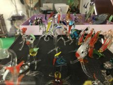 A collection of Murano glass animals