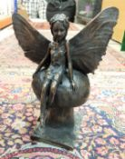"""ROLAND MOLL """"Fairy"""" bronzed cold cast sculpture limited edition 707/750 with certificate signed by"""