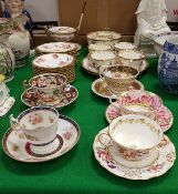 "A Hammersley ""Dresden Sprays"" part tea service, Spode ""Japan"" pattern teacup and saucer (2697),"