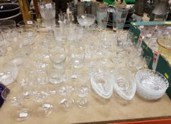 A collection of various 19th Century and other glassware, to include celery jar,