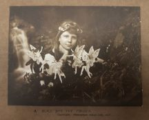 """Cottingley Fairies interest: """"A. Alice and the Fairies"""" copyright. Photograph taken July 1917."""
