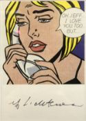 """AFTER ROY LICHTENSTEIN """"Oh Jeff ... I love you, too .. but .."""