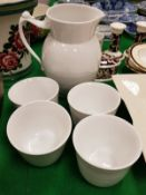 A collection of Royal Copenhagen china wares including ribbed jug (444),