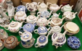 A collection of twenty various Victorian and 20th Century teapots including Doulton Slater's