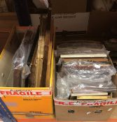 Two boxes of various picture frames toge