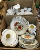 "Two boxes of J & G Meakin ""Poppy"" dinner"