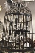 "A modern wrought iron ""bird cage"" eight"