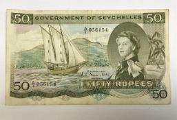 A Government of Seychelles 50 Rupees ban