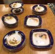 A collection of Royal Worcester game dec
