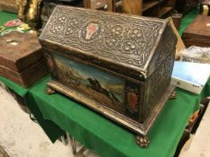 A 19th Century Arts & Crafts casket of G
