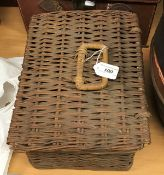 A coracle wicker picnic set containing k