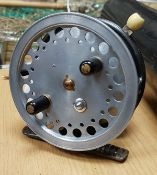 A 1930's Hardy Super Silex fly reel by H