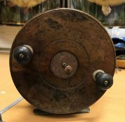 A large Nottingham frog back surf reel