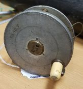 "A Hardy ""Field"" 31/8"" contracted trout fly reel,"
