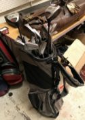 A Biomagnetic Dual Strap golf bag and co