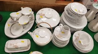"A Noritake ""Maplewood"" part dinner service and tea service including tureens, teapot, dinner plates,"
