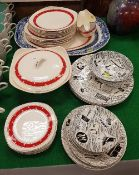 "A collection of Ridgeways ""Homemaker"" comprising two bowls, three dinner plates, two side plates,"