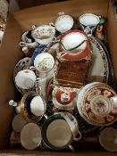 Various decorative china wares to include teacups, saucers, serving plates,