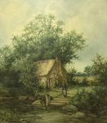 """H GUMMERY """"Rural scene"""" of woman outside"""