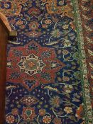 A Caucasian rug with centre medallion on