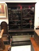 A 19th Century mahogany bookcase cabinet