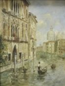 """K YOUNG """"Venetian Backwaters with Gondol"""