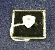 A 9 carat gold stone set dress ring, app