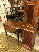 Two Victorian mahogany pot cupboards tog