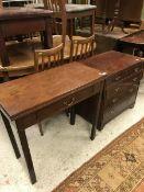 A 19th Century mahogany fold over tea ta