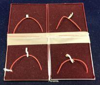 Four various 9 carat gold and diamond se