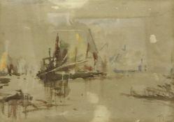 "THOMAS BUSH HARDY (1842-1897) ""Harbour s"